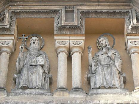 St. Benedictine and St. Scholastica