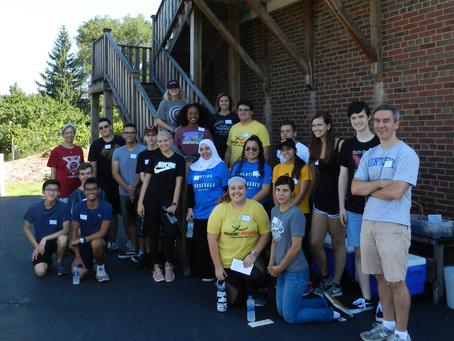 DePaul University Service Day at St. Scholastica Monastery