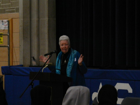 Sister Patricia Crowley, OSB presented at Celebration of Consecrated Life Day