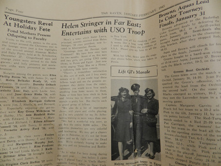 Alumna Wrote Sister Laura during WWII