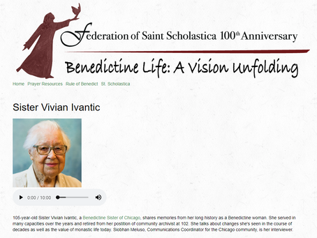 Featured Podcast: Sister Vivian Ivantic, OSB
