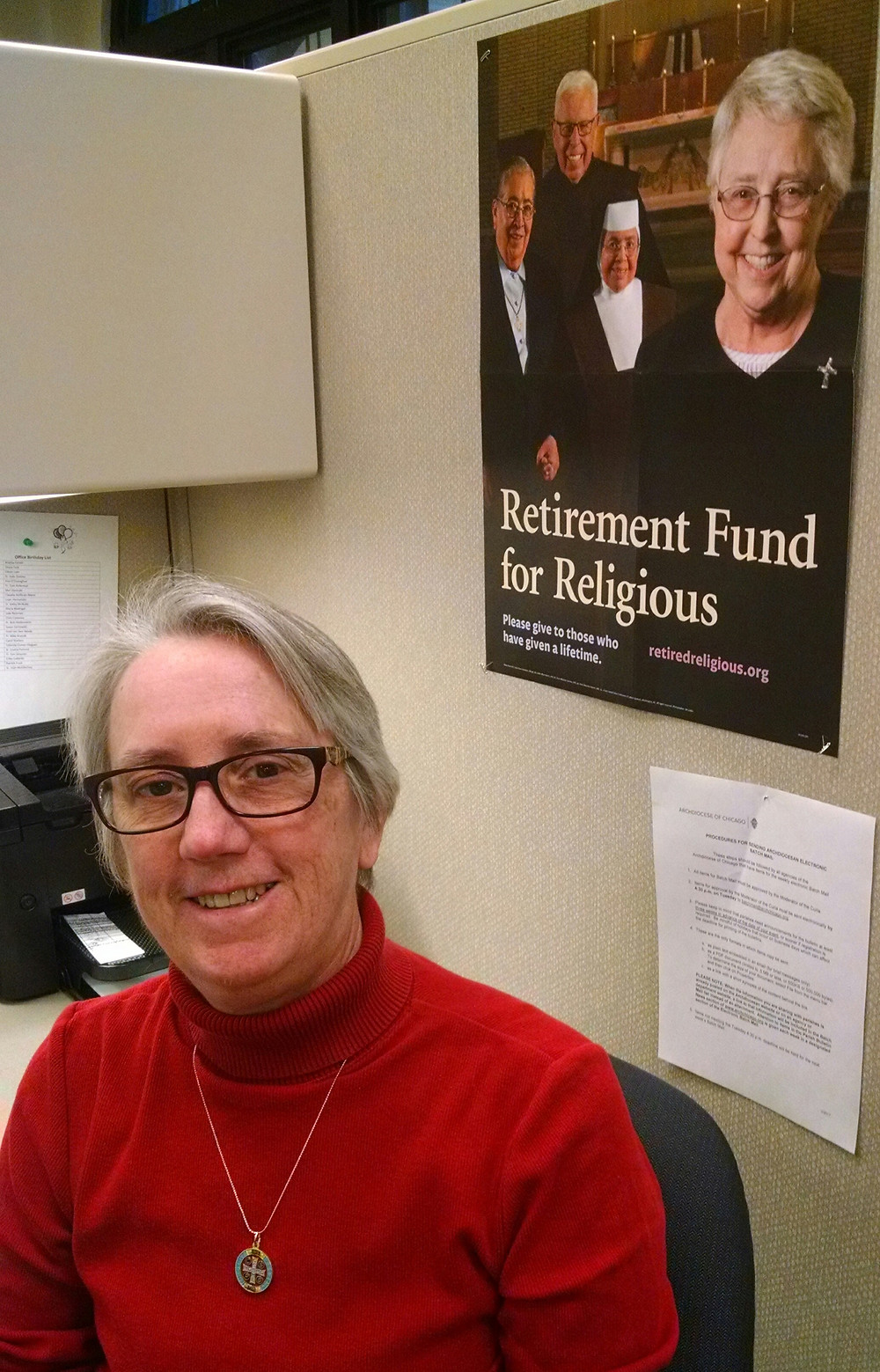 Sister Judith Zonsius, OSB Coordinator for the Retirement Fund for Religious