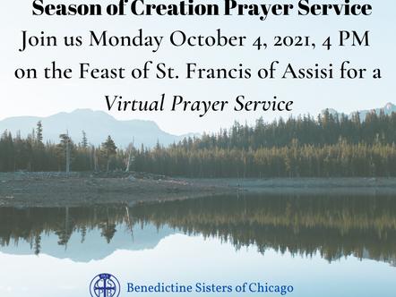 Season of Creation Prayer Service October 4th 4pm