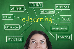E-learning Diagram Background Concept Wo