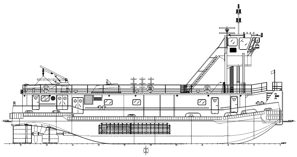 105' Jacking Pilot House Push Boat