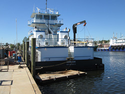 80' Pushboat After Launch
