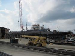 Cumberland Ferry Under Construction