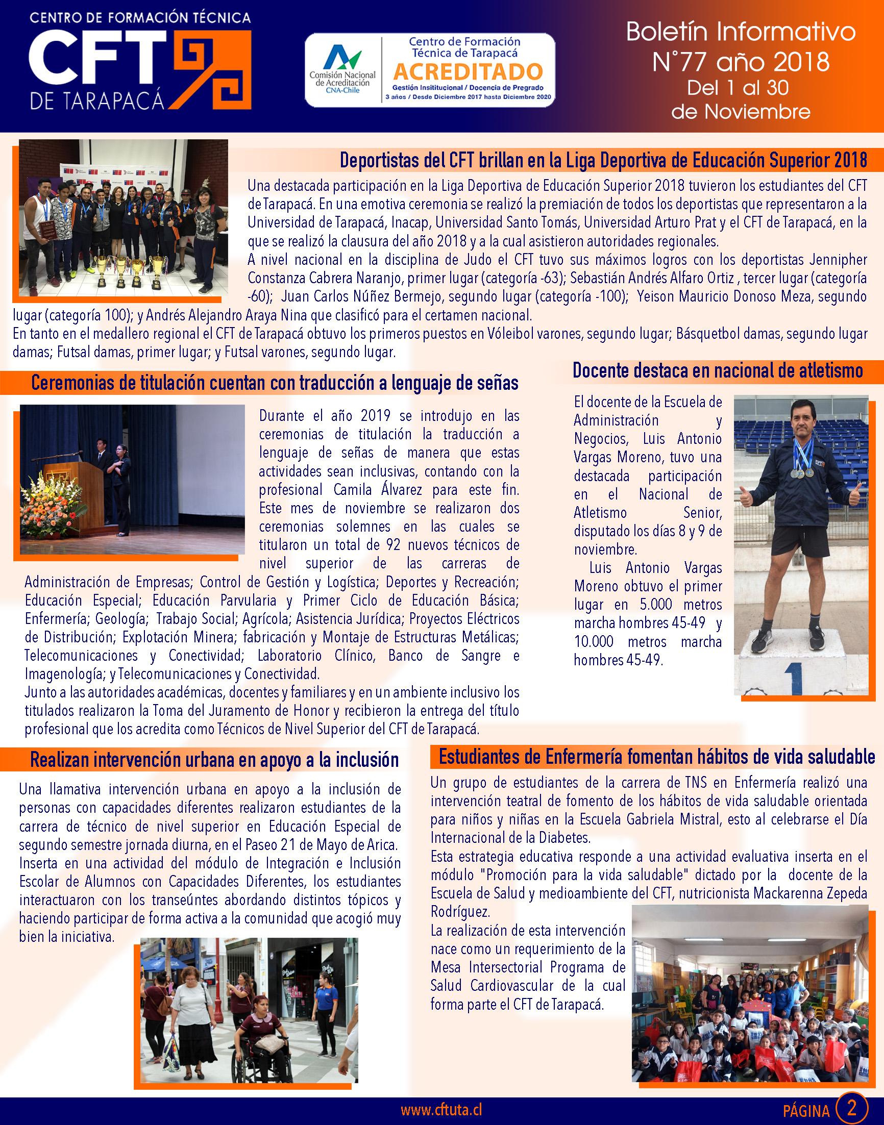 Boletiìn N°77 CFT de Tarapacaì2