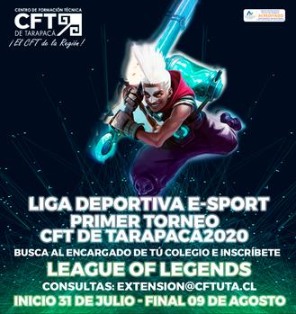 Vía stream y con relatores se jugará la Liga eSports CFT de Tarapacá