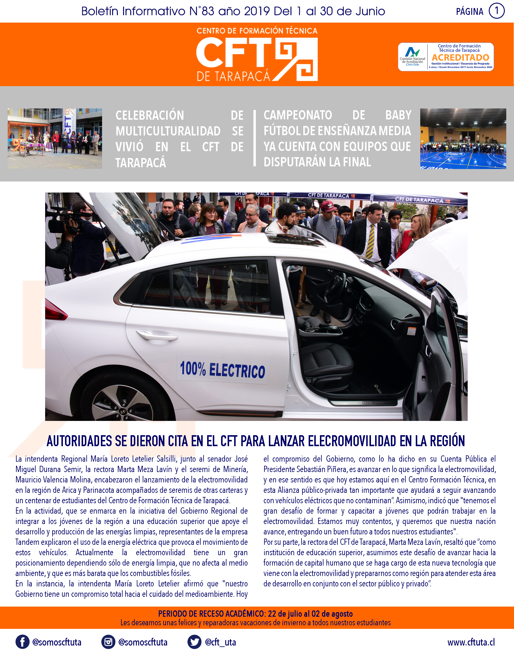 Boletín N°83 CFT de Tarapacá