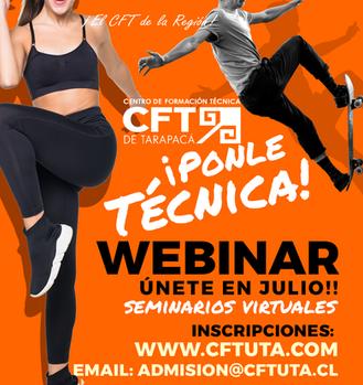 No te pierdas ninguno de los Webinars 2020 que el CFT de Tarapacá tiene preparados para ti