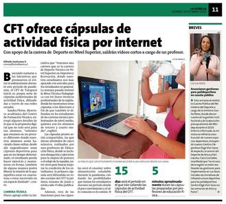 CFT ofrece cápsulas de actividad física por Internet