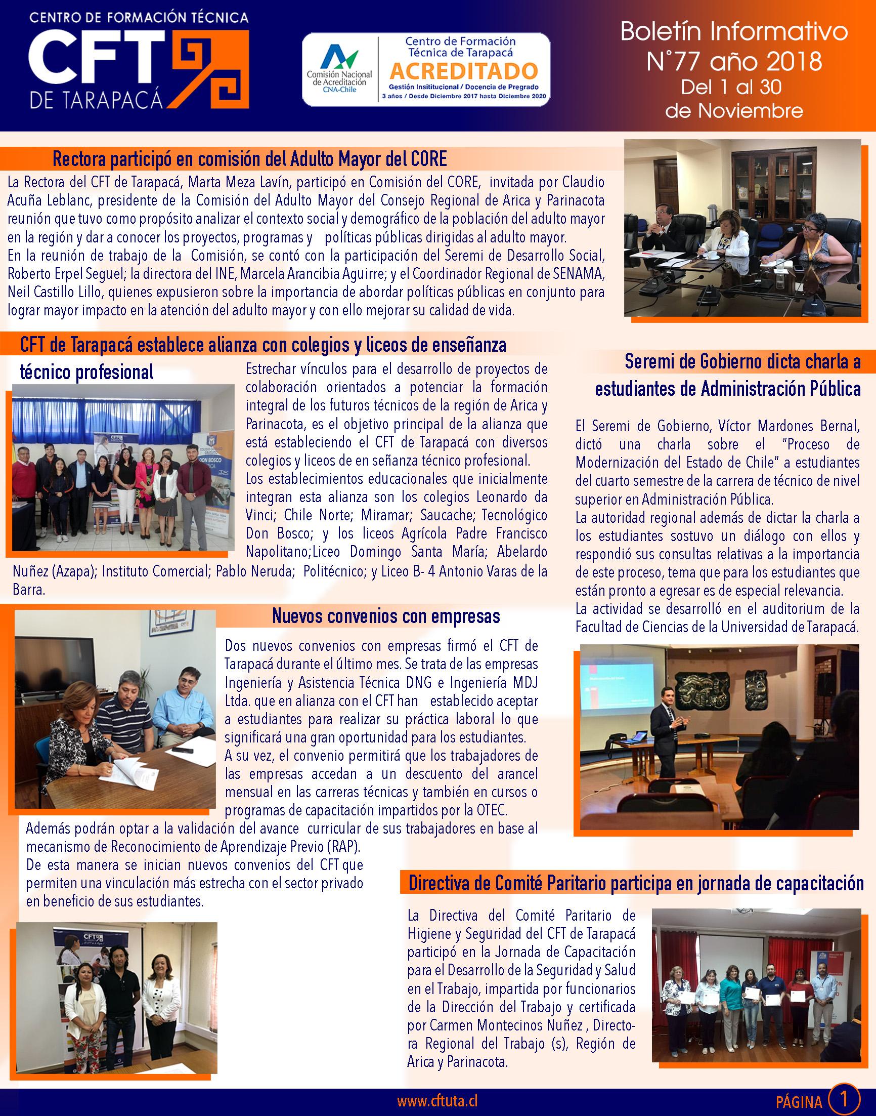 Boletiìn N°77 CFT de Tarapacaì1