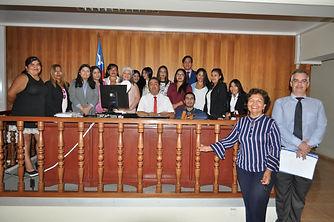 7b0fa3e68d0 Una delegación de estudiantes de la carrera de TNS en Asistencia Jurídica  visitó el Tercer Juzgado de Letras de Arica