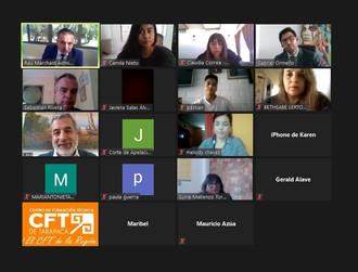 Corte de Apelaciones recibió la visita virtual de estudiantes del CFT de Tarapacá