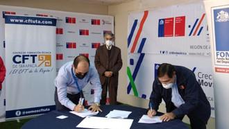 IND y Agrupación Deportiva CFT de Tarapacá firman convenio en el marco del programa Fondeporte 2020