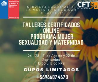 Participa en los talleres del Programa Mujer, Sexualidad y Maternidad