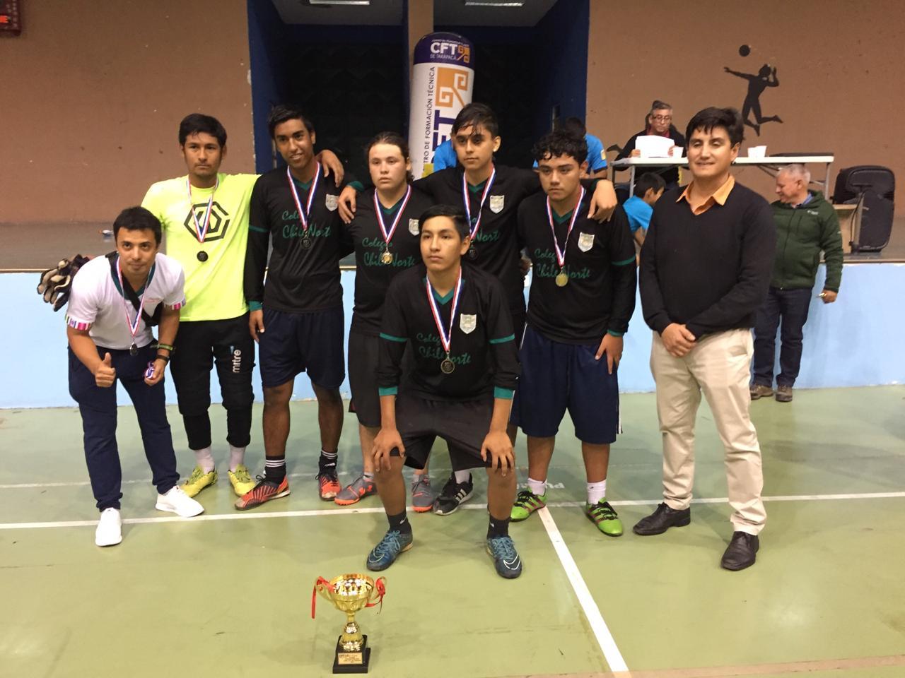 segundo lugar varones Colegio Chile Nort