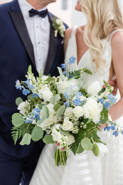 White and Blue Bridal