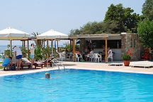 Troulos Bay Hotel pool and pool bar