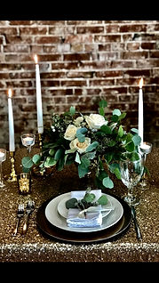 Table Setting with Sequin Linen
