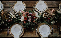 Beatiful Table Setting With Floral Centerpiece