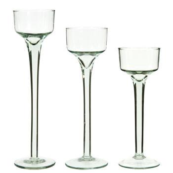 GLASS STEMMED VOTIVES