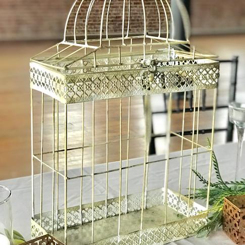 Small Ivory birdcage