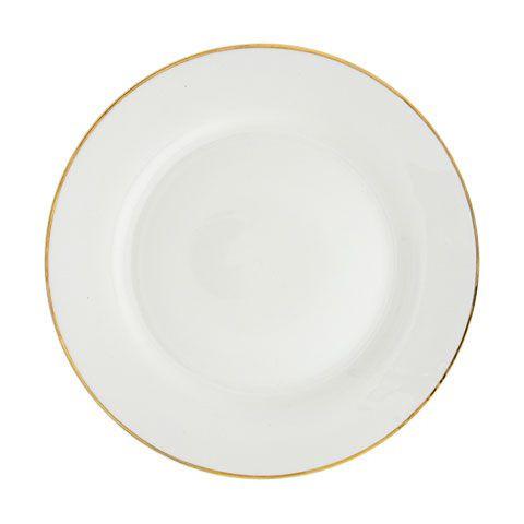 Gold Rimmed White Dinner Plates