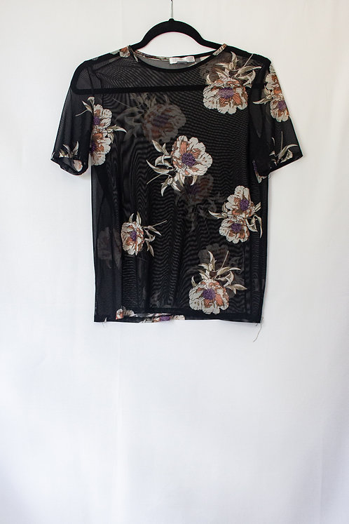 Shear Floral Top (S)