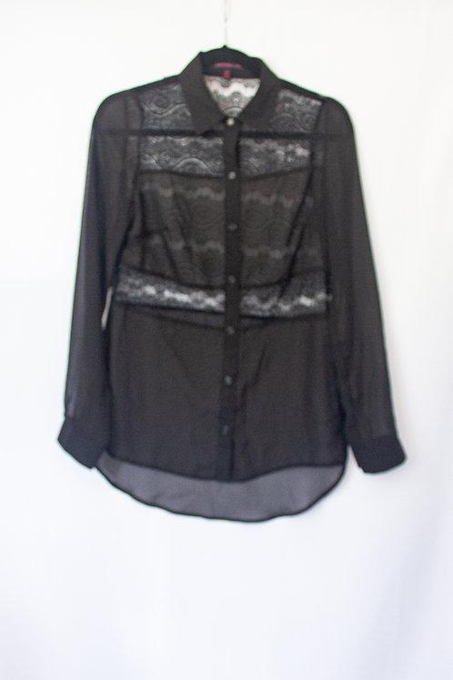 Black Lace Blouse (S)