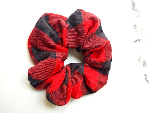 Red & Black Plaid Scrunchie
