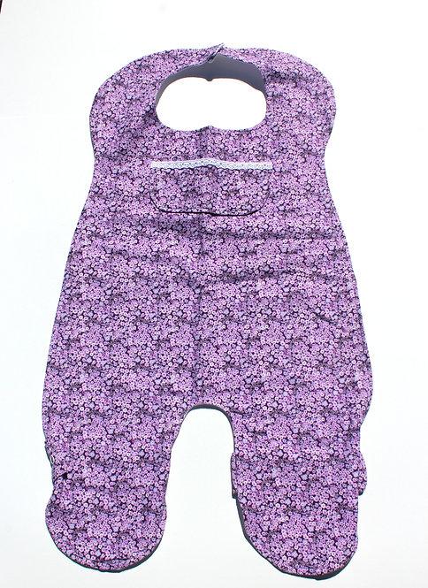 Purple Floral Full Body Bib
