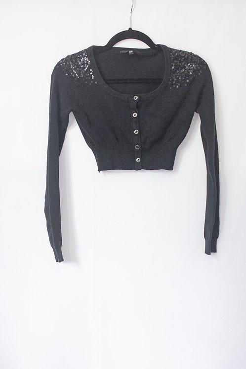 Sequin Crop Cardigan (XS)