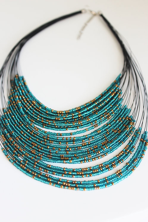 Teal & Gold Layering Necklace