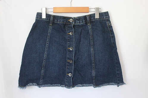 Denim Button Up Skirt (29)