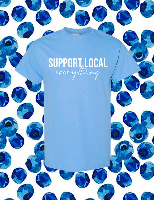 Support Local Everything T-Shirt - Blue