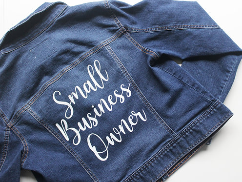 Small Business Owner Denim Jacket