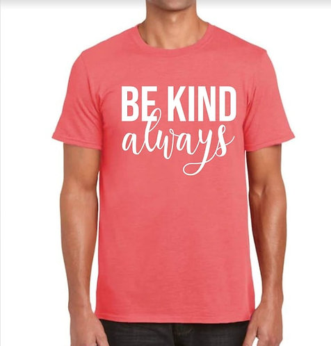 Be Kind T-Shirt - Coral