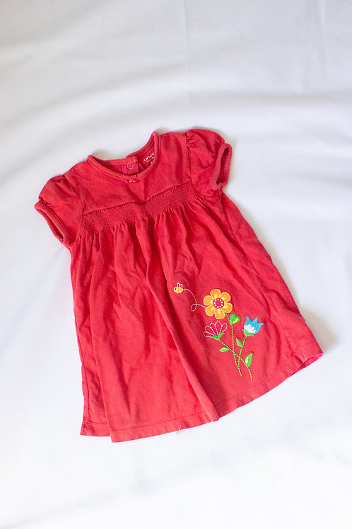 Red Floral Dress (18M)