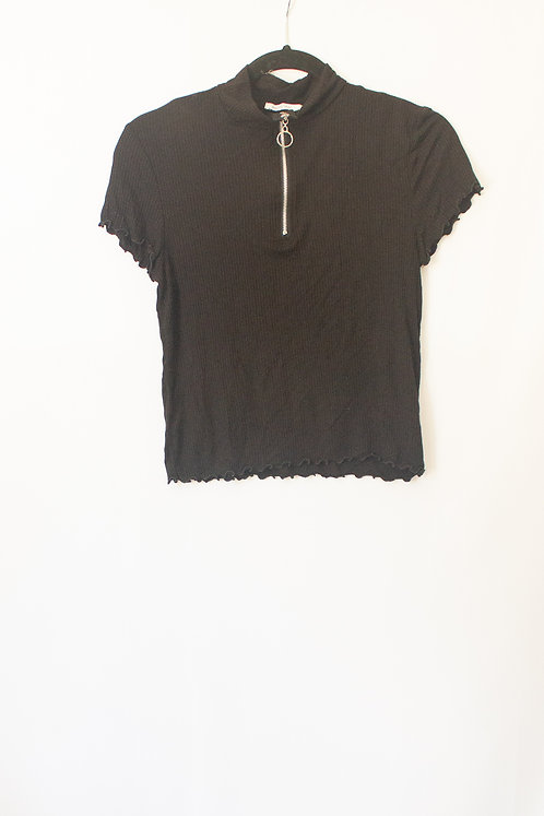 Half Zip Tee - Black (L)