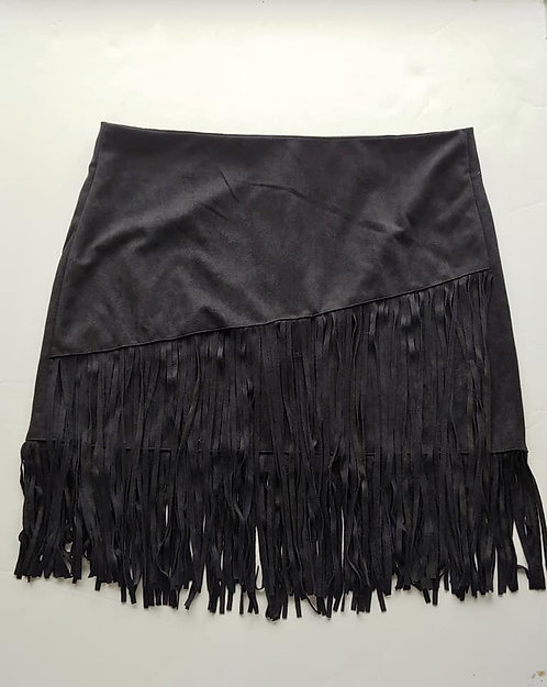 Back Fringe Skirt