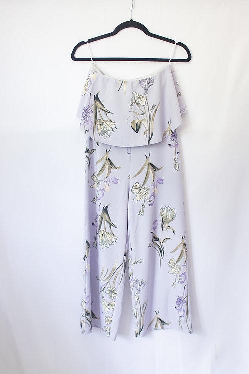 Lavender Floral Jumpsuit  (S)