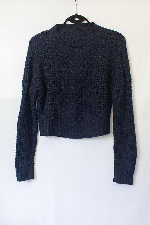 Navy Crop Sweater (M)