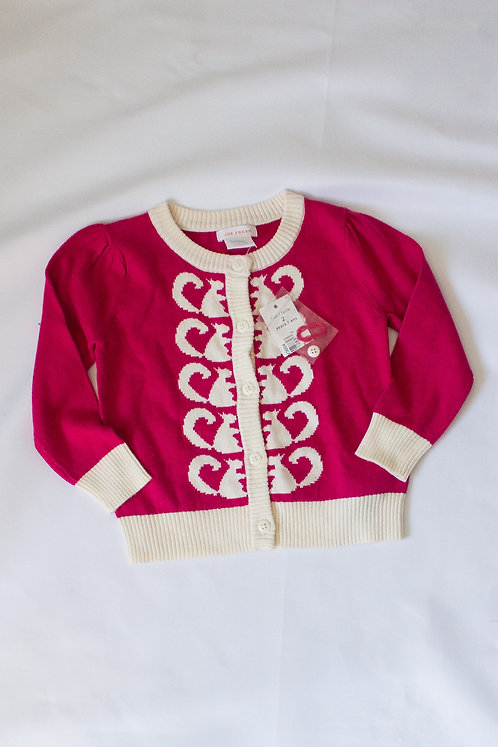 Pink Button Up Sweater (2) - New