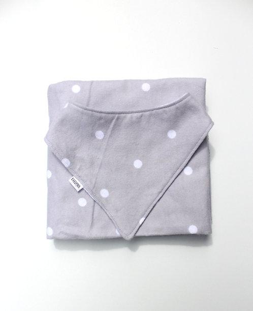 Grey Polka Dot Receiving Blanket