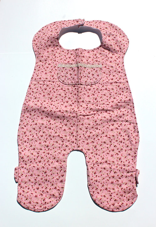Pink Floral Full Body Bib