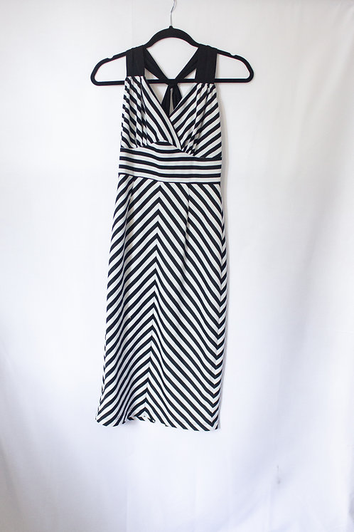 B&W Strip Dress - Mid Length (M)