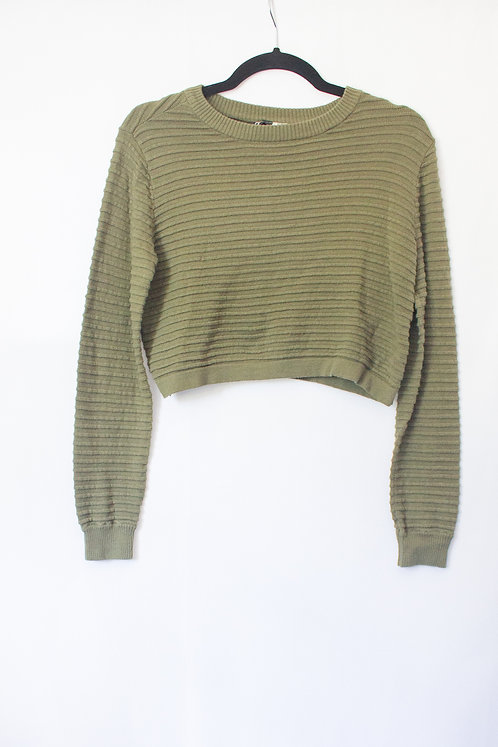 Green Crop Sweater (S)