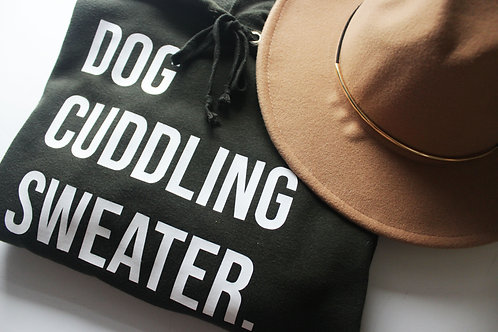 Dog Cuddling Sweater - Green Crop